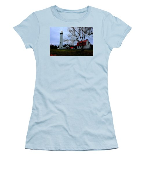 Old Presque Isle Lighthouse Women's T-Shirt (Athletic Fit)