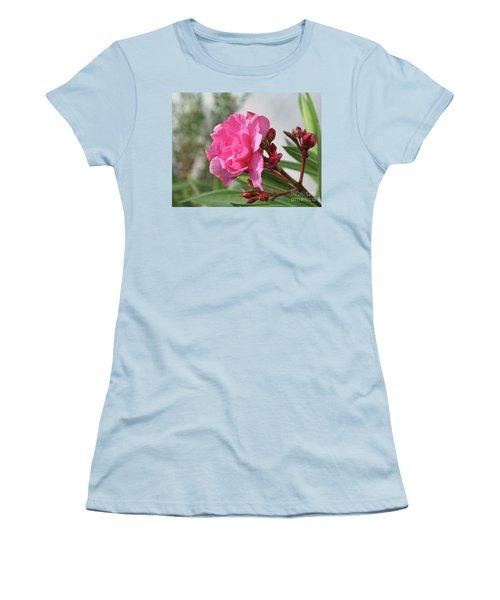 Oleander Splendens Giganteum 4 Women's T-Shirt (Junior Cut) by Wilhelm Hufnagl