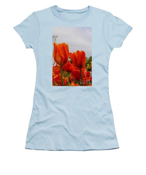 Women's T-Shirt (Junior Cut) featuring the photograph On Fire by Robert Pearson