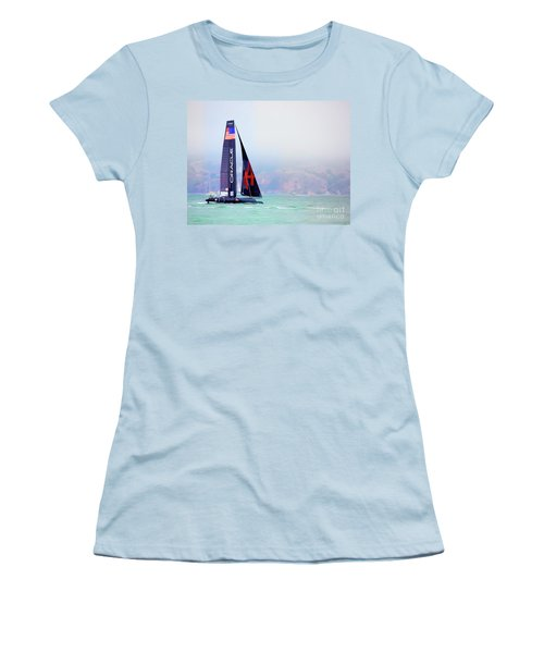 Oracles Usa  America's Cup Paint  Women's T-Shirt (Athletic Fit)