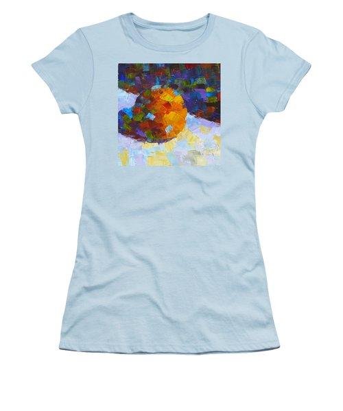 Orange Mosaic #3 Women's T-Shirt (Junior Cut) by Susan Woodward
