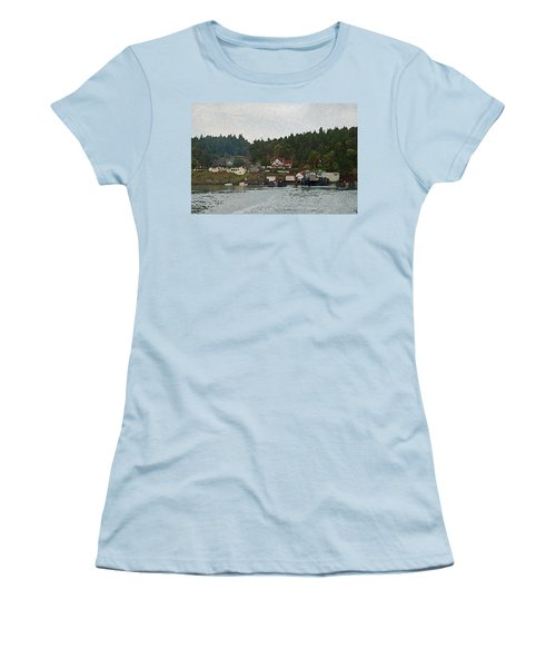 Orcas Island Dock Digital Women's T-Shirt (Athletic Fit)
