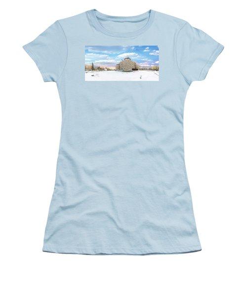 Orebro Castle Women's T-Shirt (Junior Cut) by Marius Sipa