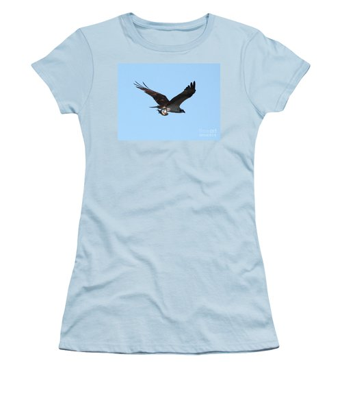 Osprey With Fish Women's T-Shirt (Junior Cut) by Carol Groenen