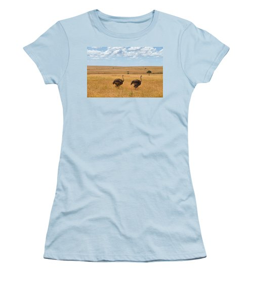 Ostrich Women's T-Shirt (Athletic Fit)