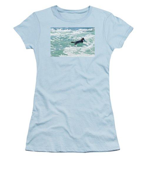 Otter At Montana De Oro Women's T-Shirt (Junior Cut) by Michael Rock
