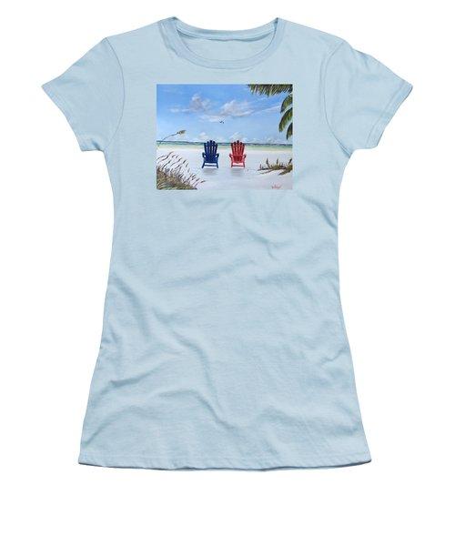 Our Spot On Siesta Key Women's T-Shirt (Junior Cut) by Lloyd Dobson
