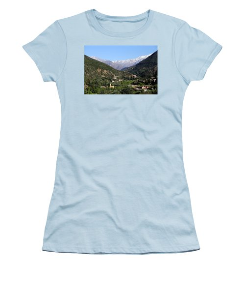 Women's T-Shirt (Junior Cut) featuring the photograph Ourika Valley 2 by Andrew Fare