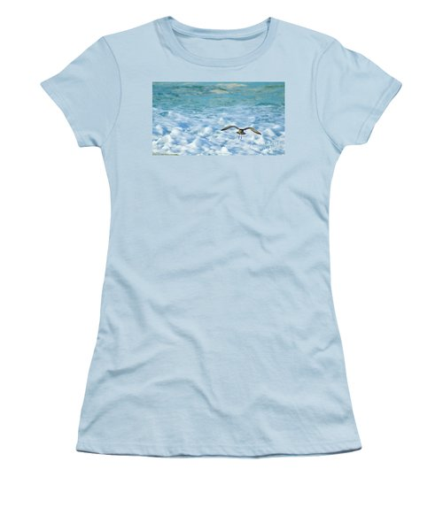 Pacific Golden Plover Flying Women's T-Shirt (Athletic Fit)