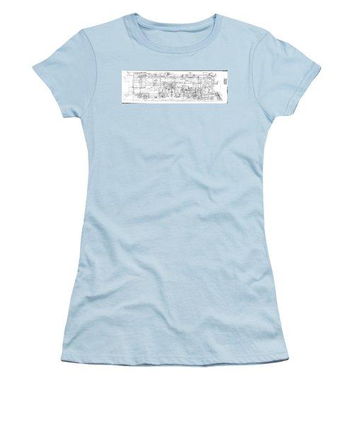 Pacific Locomotive Diagram Women's T-Shirt (Athletic Fit)