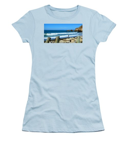 Women's T-Shirt (Junior Cut) featuring the photograph Pacifica Coast by Glenn McCarthy Art and Photography
