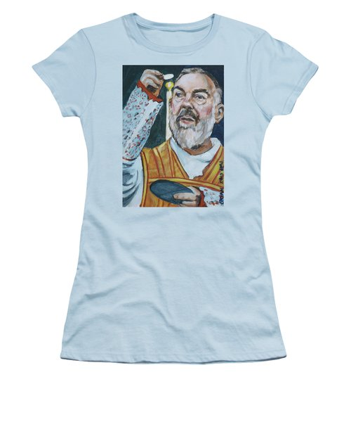 Padre Pio Women's T-Shirt (Athletic Fit)