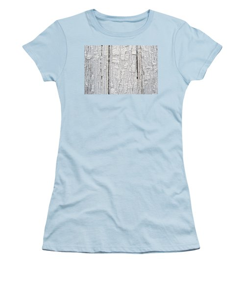 Women's T-Shirt (Junior Cut) featuring the photograph Painted Aged Wood by John Williams