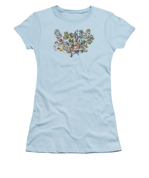Women's T-Shirt (Junior Cut) featuring the painting Painted Nature 2 by Sami Tiainen