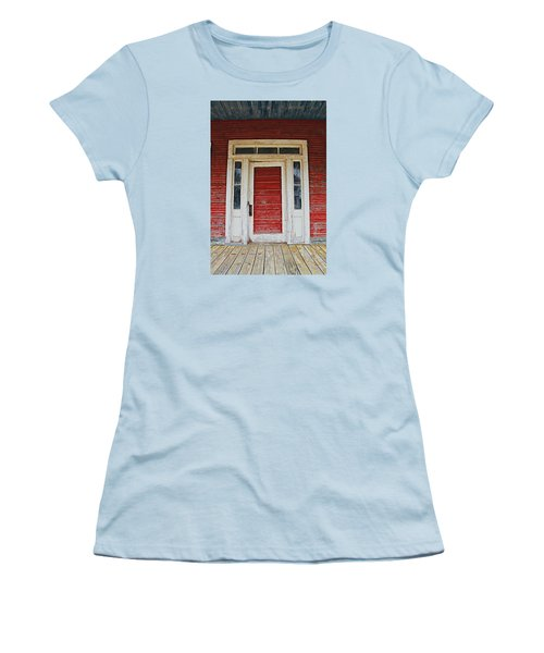 Painted Red Women's T-Shirt (Junior Cut) by Lynn Jordan