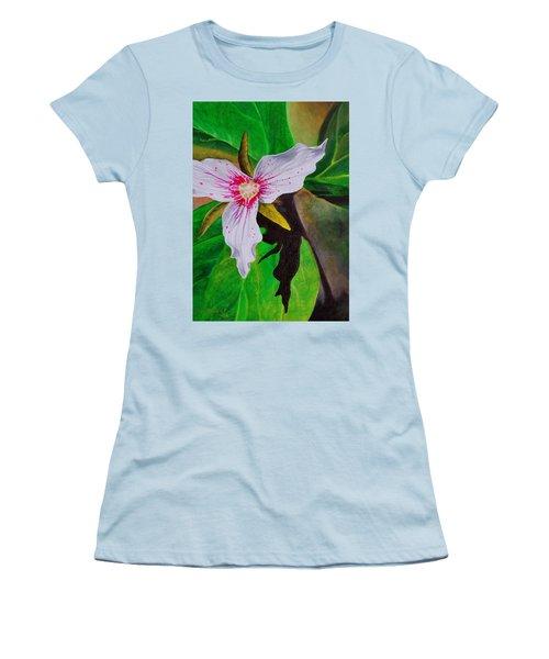 Painted Trillium Women's T-Shirt (Athletic Fit)