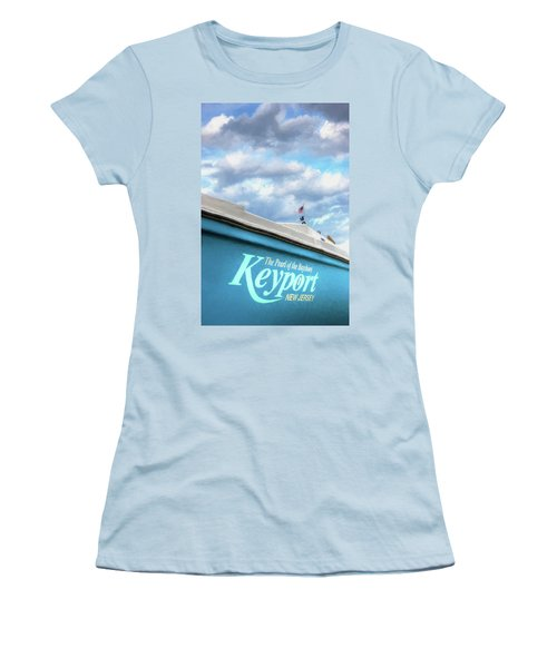 Women's T-Shirt (Athletic Fit) featuring the photograph Painterly Keyport Sailboat by Gary Slawsky