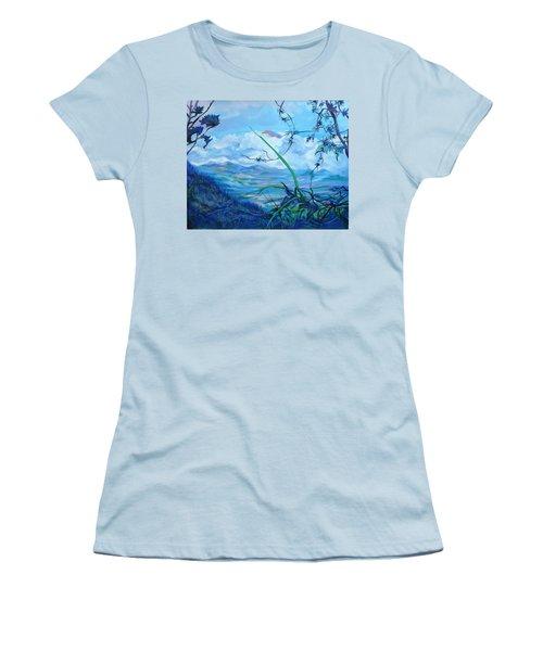 Panama. Anton Valley Women's T-Shirt (Junior Cut) by Anna  Duyunova