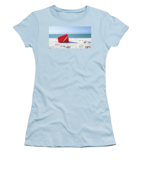Panama Beach Florida Sandy Beach Women's T-Shirt (Athletic Fit)