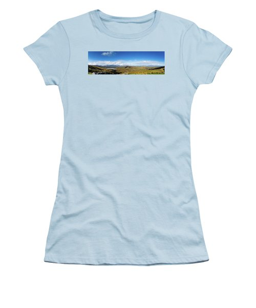 Panorama Of Ballycullane And Lough Acoose In Ireland Women's T-Shirt (Junior Cut) by Semmick Photo