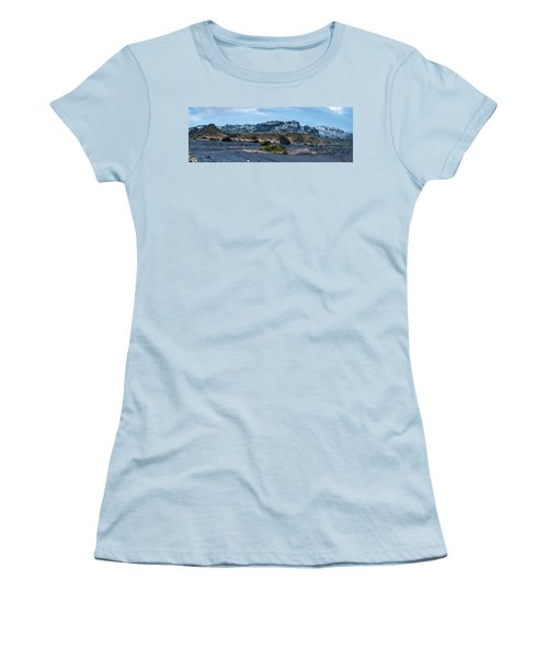 Panorama View Of An Icelandic Mountain Range Women's T-Shirt (Athletic Fit)