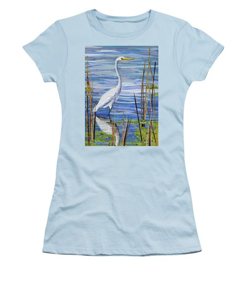 Paper Crane Women's T-Shirt (Junior Cut) by Shawna Rowe