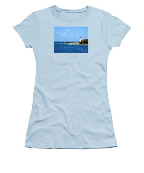 Paradise Island Lighthouse  Women's T-Shirt (Athletic Fit)