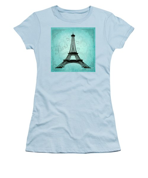 Paris Collage Women's T-Shirt (Junior Cut) by Jim And Emily Bush