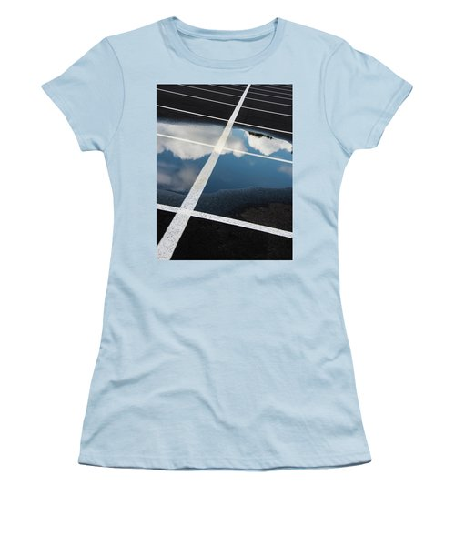 Parking Spaces For Clouds Women's T-Shirt (Junior Cut) by Gary Slawsky