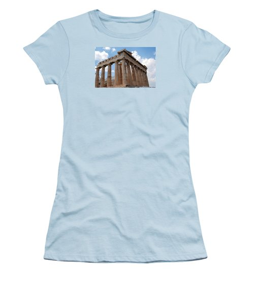 Women's T-Shirt (Junior Cut) featuring the photograph Parthenon Side View by Robert Moss
