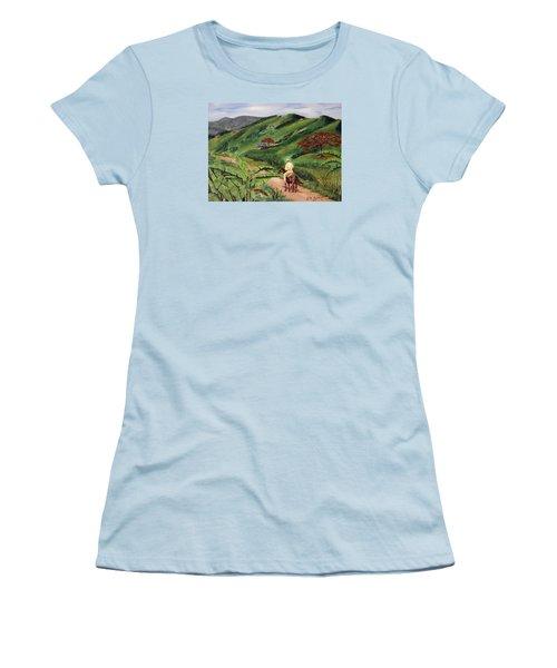 Paseo Por El Campo Women's T-Shirt (Junior Cut) by Luis F Rodriguez