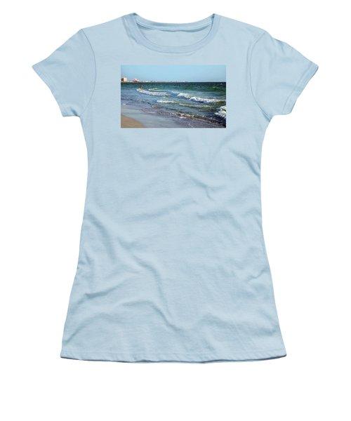 Passagrill Beach Women's T-Shirt (Junior Cut) by Ginny Schmidt