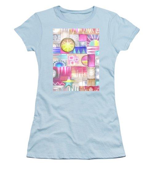 Pastel Symmetry Women's T-Shirt (Athletic Fit)