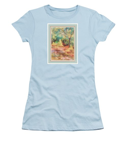 Path Shortcut Green Border Women's T-Shirt (Junior Cut) by Shirley Moravec