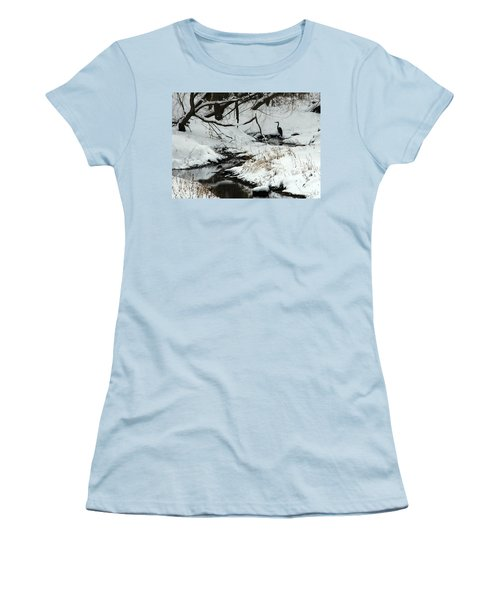 Women's T-Shirt (Junior Cut) featuring the photograph Patiently Waiting 2 by Paula Guttilla