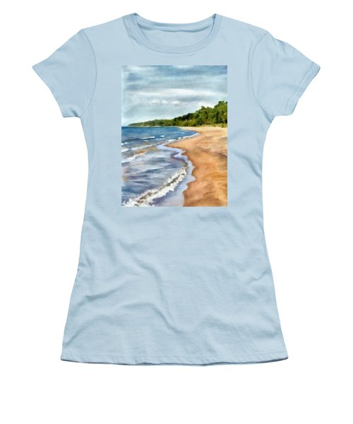 Peaceful Beach At Pier Cove Ll Women's T-Shirt (Athletic Fit)