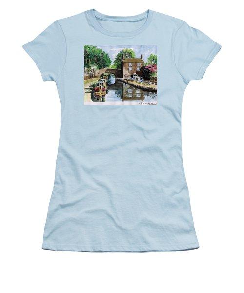 Peacfull House On The Lake Women's T-Shirt (Junior Cut) by Alban Dizdari