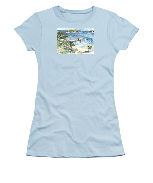 Peanut Island Women's T-Shirt (Athletic Fit)