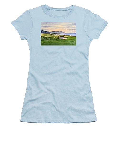 Pebble Beach Golf Course Women's T-Shirt (Junior Cut) by Bill Holkham