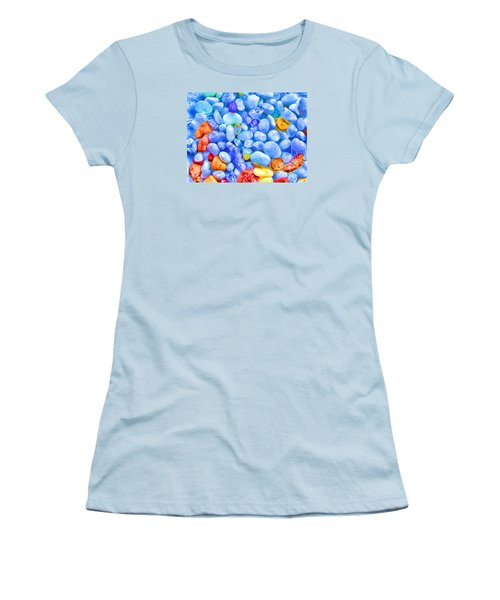 Women's T-Shirt (Junior Cut) featuring the photograph Pebble Delight by Andreas Thust