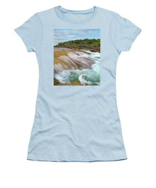 Pedernales Falls Women's T-Shirt (Junior Cut) by Tim Fitzharris