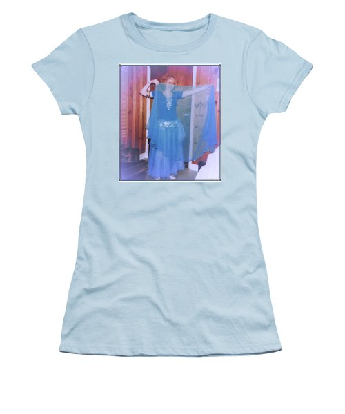 Women's T-Shirt (Athletic Fit) featuring the photograph Peek-a-boo Dancer by Denise Fulmer