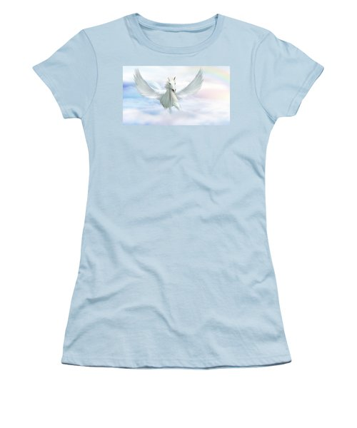 Pegasus Women's T-Shirt (Junior Cut) by John Edwards