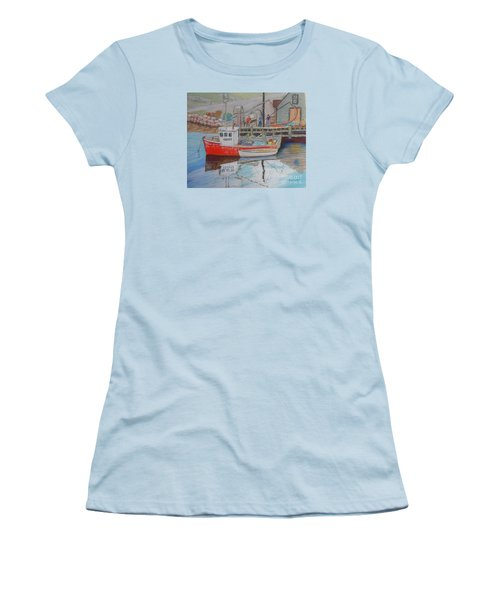 Peggy's Cove  Fishermen Women's T-Shirt (Junior Cut) by Rae  Smith