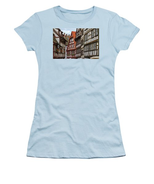 Petite France Houses, Strasbourg Women's T-Shirt (Athletic Fit)