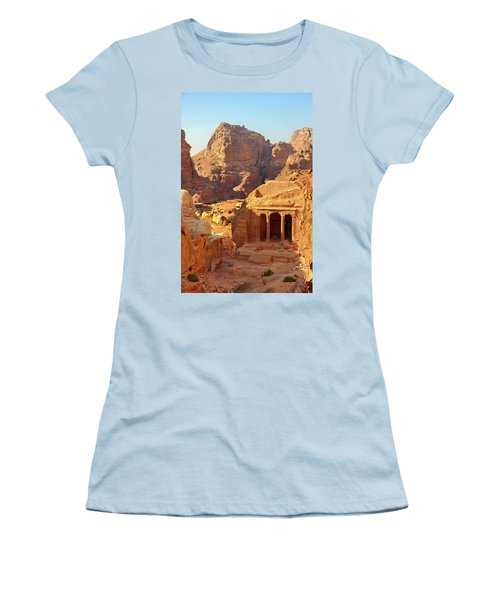 Petra Buildings, Pond And Gardens Complex Women's T-Shirt (Junior Cut) by Nicola Nobile