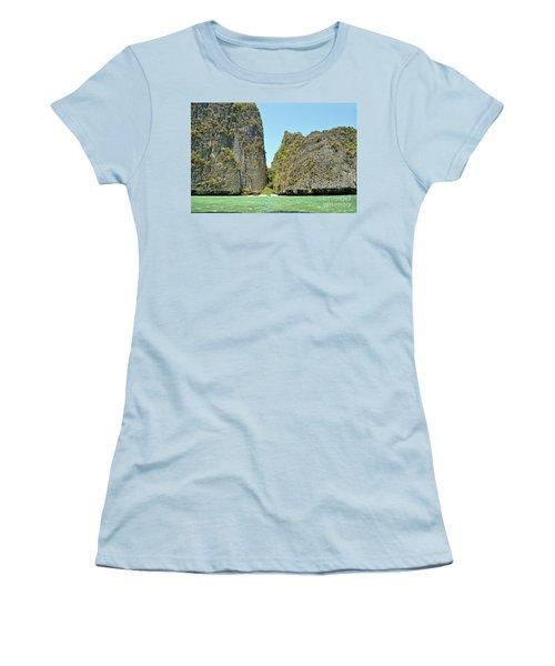 Women's T-Shirt (Junior Cut) featuring the digital art Phi Phi Islands 2 by Eva Kaufman
