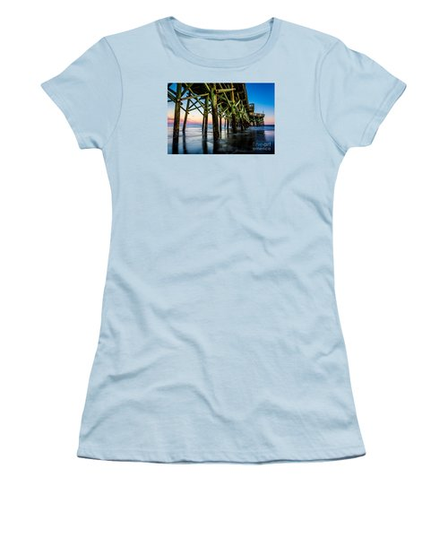 Pier Perspective Women's T-Shirt (Junior Cut) by David Smith