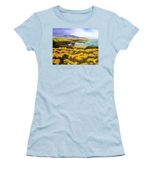 Pigeon Point Women's T-Shirt (Junior Cut) by Jamie Frier