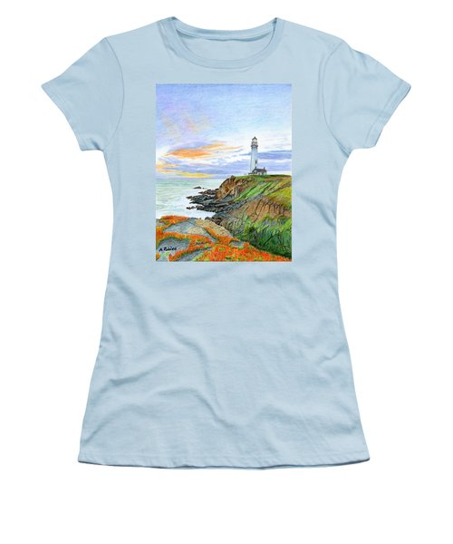 Pigeon Point Sunset Women's T-Shirt (Junior Cut) by Mike Robles